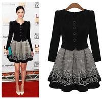 free shipping 2014 autumn new women's dress fashion slim dress long sleeved dress jackets women women coat