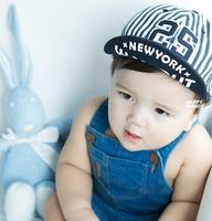 2014 New Children Digital 25 Baseball Cap Kids Berets Baby Girls Boys cute sun hat newborn hats 0-4T can use Free Shipping