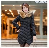 Women's cotton-padded jacket winter fashion women's medium-long plus size slim wadded jacket female thickening Snow wear