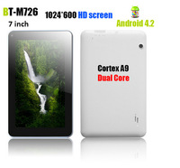 Free shipping  7 inch tablet PC  Hot sell RK3168  Cortex-A9  Dual core  1.2GHz X 2