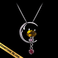 Special Necklaces Natural Tourmaline Pendant Free Shipping  Sweet Gifts For Girl Friends XL14A090207