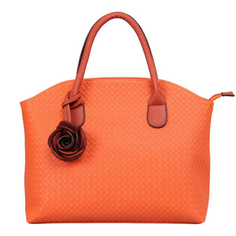 VEEVAN women bag fashion women handbag bolsas tote bag pu leather bags with flowers shoulder crossbody bags handbags(China (Mainland))