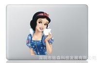 Free shipping Snow White Decal Sticker for Apple Macbook Pro / Air 13 inch Cartoon Skin Sticker