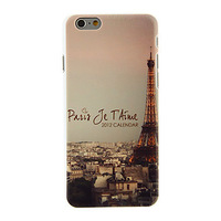 """Eiffel Tower in the Night Pattern PC Hard Back Cover for iPhone 6 Case 4.7"""" Phone Cases"""