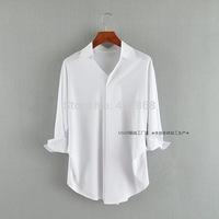 women blouses 2014 new arrive women tops three quarter sleeve turn down collar long women shirt free shipping
