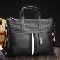 New 2014 New Style Genuine Leather Men Messenger Bags Shoulder Bags Handbags Men Travel Bags