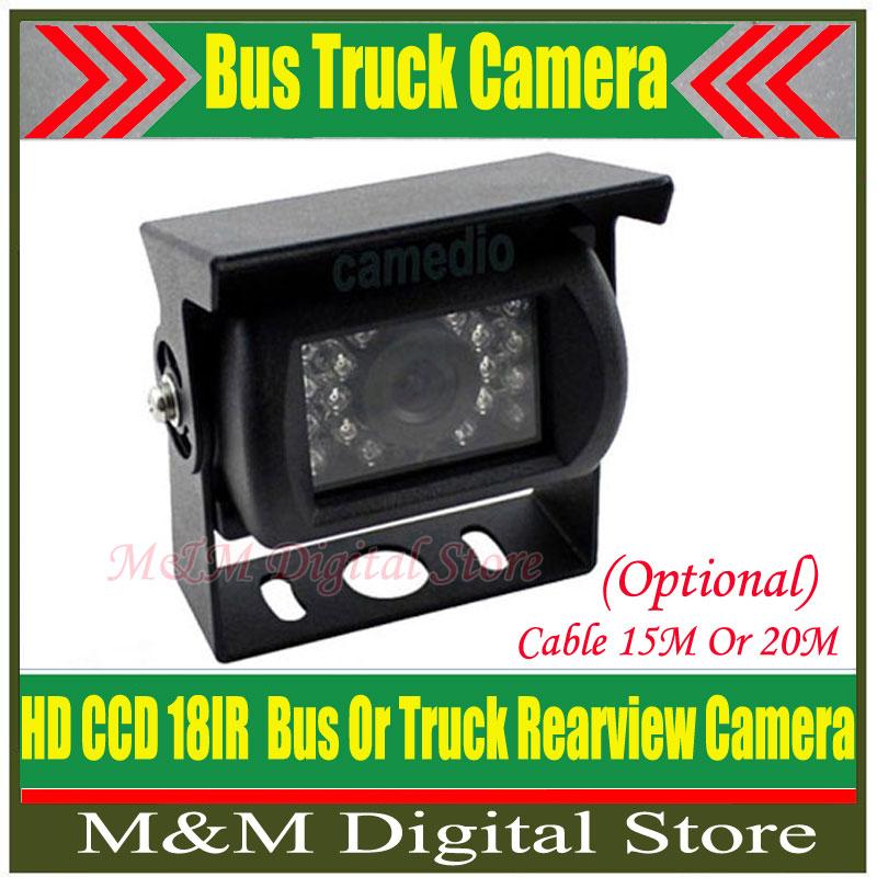 Car Rear View Camera Reverse backup Camera rearview parking 120 Degree 18 IR Nightvision Waterproof Bus & Truck Camera HD CCD(China (Mainland))