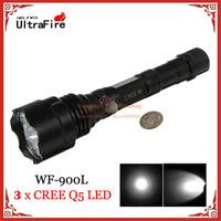 10pcs UltraFire WF-900L 5 x CREE Q5 LED 900LM 3 Mode Outdoor Aluminum Alloy LED Tactical Flashlight