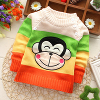 2014 winter new hot mouth monkey cartoon boy sweater children sweater