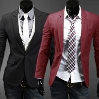 new 2014 pure color business Blazers / suit men's cultivate one's morality men's leisure suit men's joker coat