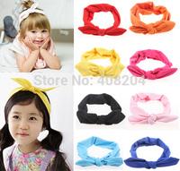 teens girls Headband - Jersey cotton bunny ear headband solid color headwear Top Knot Headband