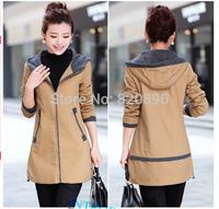 New Long Winter Coat Women 2014 Long Winter Coat Women Plus Size Women Solid Woolen Warm Winter Coat Women Brand Trench