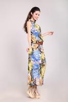 Women's ice silk two-piece dress summer new European and American trade Bohemian temperament sexy dress