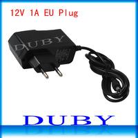 110piece/lot  AC 100-240V to DC 12V 1A Power Adapter Supply Charger For LED Strips Light EU Plug Free Fedex