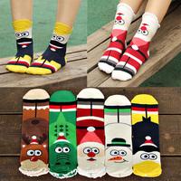 2014  New Hot Good Quality Frozen Women's cotton Sockings Female Fashion Three-dimensional Christmas sock Cartoon Cute sock