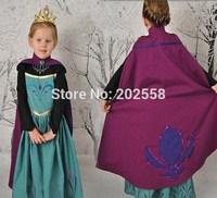 2014 New  Dress cape  cartoon noble coronation Dress For Girl Princess Dresses 2pcs Cosplay Valentine's Day Party Girls Dress