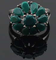2014 vintage Bohemia crystal flower jewelry rings for women,free shipping