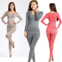 2014winter best women thermal underwear long johns set thicken sexy underwear women's tops thermal long underwear free shipping