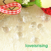 New Arrival-200pcs Mini Size 22mm*11mm Acrylic Clear Color Baby Pacifier For Baby Shower Favors~Cute Charms~Party Decoration