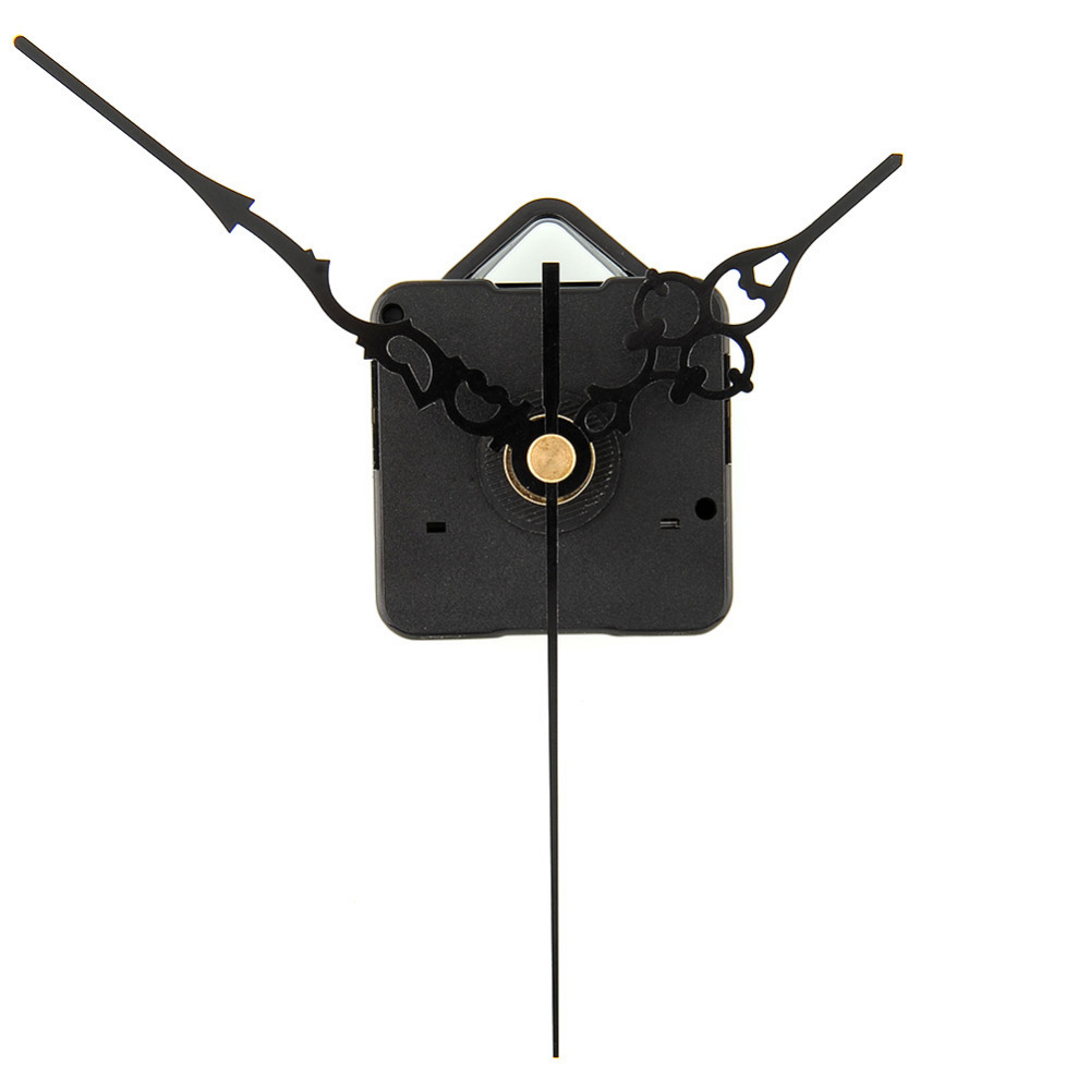 DIY By Yourself Quartz Clock Movement Parts Replacement Kit Black Hands Free Shipping(China (Mainland))