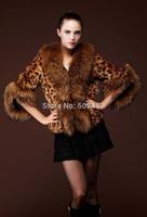 2014 Leopard imitation fox fur coat short paragraph long section of female
