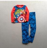 Q Free shipping children kids boy Transformers boys Fleece winter long sleeves pajamas pyjamas sleepwear
