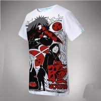 2014 New Summer Naruto Uchi Houbara Japanese anime Men T Shirt Men's Short Sleeve slim fit Cotton Casual Round Neck Tshirt