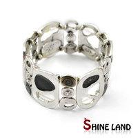 Antiqu jewelry women vintage silver plated black enamel wide statement cuff bangle bracelets
