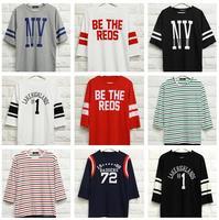17kinds new fashion 2014 Men's clothing tshirt small fresh navy style stripe men T-Shirts sleeve half sleeve women tee