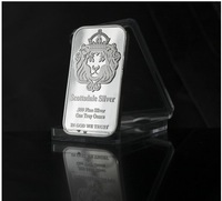 LION BAR SILVER PLATED SILVER PLATED WITH IRON COPY BULLION  5pcs/lot