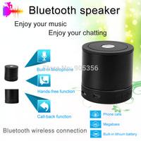Fashionable Portable TF FM HiFi Bluetooth Mini Speaker Black for Samsung/HTC/Iphone 4/4S/5/5S/5C/Ipad/PC/Laptop