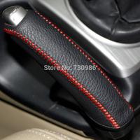 XuJi Black Genuine Leather Handbrake Cover for Honda Civic Old Civic 2004-2011