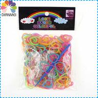 10 packs/lot New Fashion Heart Rubber Loom Bands Refill For DIY Loom Bands Bracelets Making Kit (300pcs Bands)
