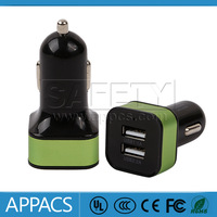 New colorful 2.1A multi port usb car charger for iphone 6,car charger for lenovo k900