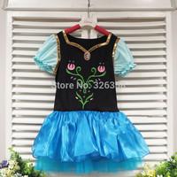 Baby girls 5pcs/lot Frozen dress/kids princess Anna tutu dress/children Snow Queen Summer short sleeve clothing