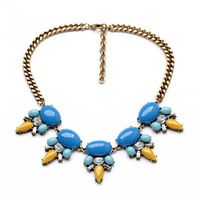 latest fashion women jewelry accessories retro vintage metal chunky statement necklace
