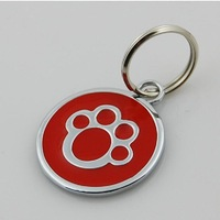 20Pcs/Lot  Dog tag Stainless Steel tag Pet Tag for pets Dog Paw Style Dog Tag Pets Identity card For Pets