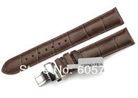 watchband 20mm Dark Brown Genuine leather strap bracelet for Tissot Watches Handmade Alligator Grain Deployment Watch Band