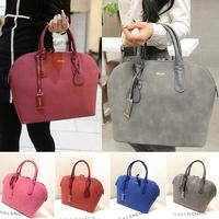 BA083 4 Colors Office Ladies Velour PU Leather Handbags Fashion Womens Business Tote Bag
