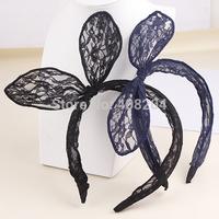 teen girls lace headband Bunny Ears Headband 4 color available