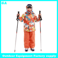 Dropshipping Boy's Winter clothing Brand sport set Boy sport sets High quality windproof Jackets and pants children's ski suit