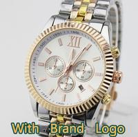 BRAND WITH LOGO 2014 men's casual watch men dress fashion relogio masculino luxury quartz business watch gold silver wristwatch