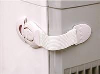 10pcs/lot Lengthened Child Lock Cabinet Lock Bendy Fridge Door Locks Drawer Toilet Safety Plastic Lock Care Baby Safety FK871404