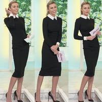 Fantastic 1PC Women Long Sleeve Slim Bodycon Stretch Party Pencil Dress Feida