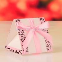 Pink Triangle box, fresh new candy box, wedding favor box