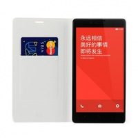 Original Plug-in clamshell Leather Case for Xiaomi Hongmi Note Smart Phone