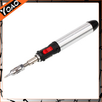 New High Quality Pen-Shape Butane Gas Soldering Iron Tool Silver Black Anti-corrosion  23000681