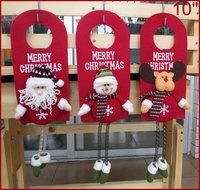 "3PCS MERRY CHRISTMAS Door Hangers 10"", Christmas Home Decorations Felt, with Stuffed Santa Claus, Snowman Reindeer DROPSHIPPING"