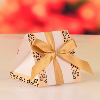 Gold wedding favor box, paper gift box decoration for party