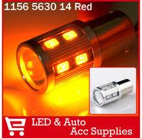 2X 1156 BA15S 14 SMD 5630 LED Light Bulb Turn Signal Backup Parking Reverse Lamp Briliant Red/Amber Yellow/Ice Blue/Navy Blue